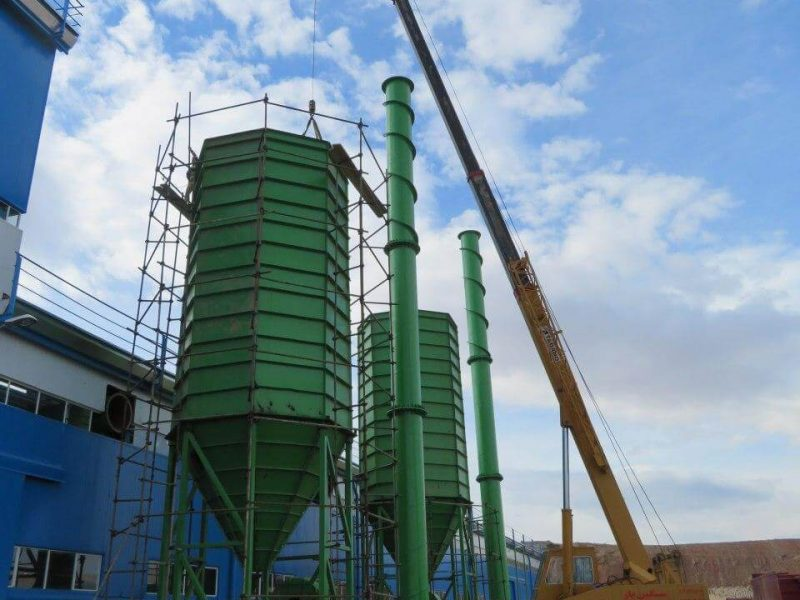 Construction of filtration unit of kaolin fiber factory in Aras free zone
